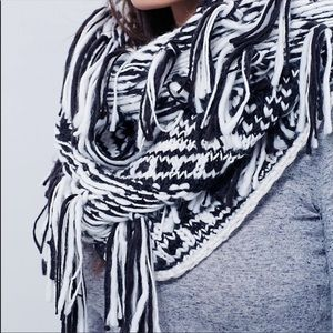 Free People Infinity Scarf with Tassle Detail